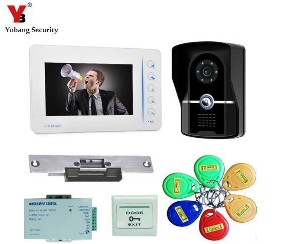 Yobang Security 7 door intercom Video Door Phone Doorbell Intercom Video Door Phone interfone para casa free shipping