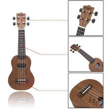 LGFM-IRIN 17″ Mini Ukelele Ukulele Spruce/Sapele Top Rosewood Fretboard Stringed Instrument 4 Strings with Gig Bag