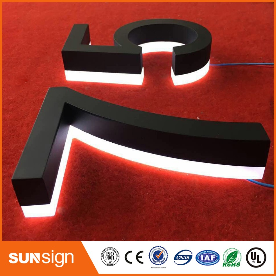 H15cm One Letter House Number UK Style Total White LED Lights House Numbers Sign