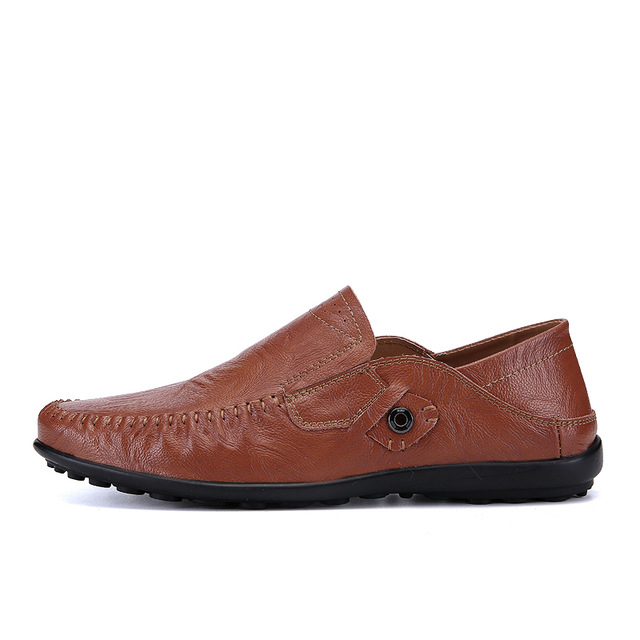 FMZXG 97M 111-118 New arrival Mens Breathable High Quality Casual Shoes Split Leather Shoes Slip On men Fashion Flats Loafer branded men s penny loafes casual men s full grain leather emboss crocodile boat shoes slip on breathable moccasin driving shoes