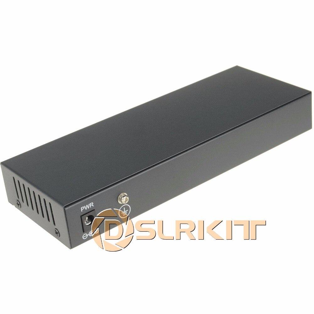 DSLRKIT 9 Ports 8 PoE injecteur de puissance sur Ethernet commutateur 48 V 120 W pour caméra IP/système de caméra AP/CCTV sans fil - 2