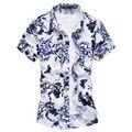 Мужские футболки мода 2016 весна мужские цветочные рубашки печати лето бизнес цветочные гавайской рубашке F2120