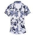 Mens shirts moda 2016 primavera para hombre floral print shirts verano negocio floral camisa hawaiana F2120