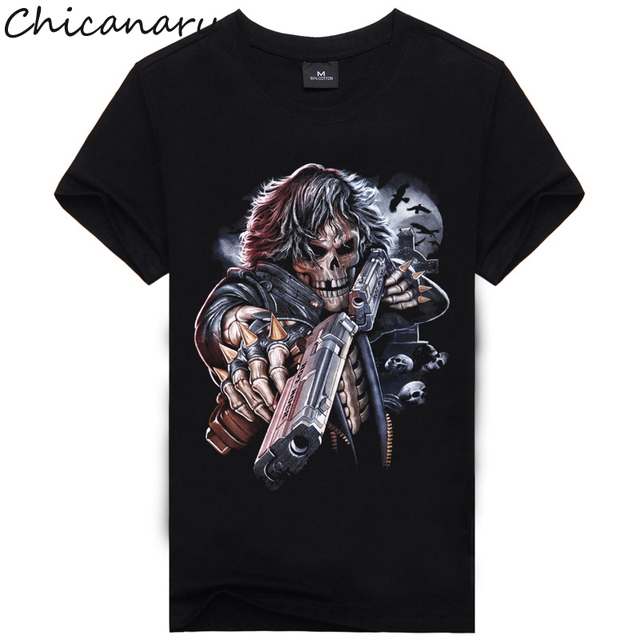 Men Shirts Short Sleeve Cotton Rocksir O-Neck Personalized Tshirt 3D Water Printed T Shirt Man T-Shirt Swag Clothes Camisetas