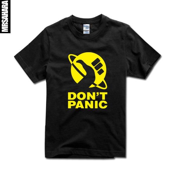 a010de57b777d Marvin não entre em pânico camiseta de alta qualidade 100% algodão camiseta  homens e mulheres o guia do mochileiro das galáxias camisas top tee em  Camisetas ...