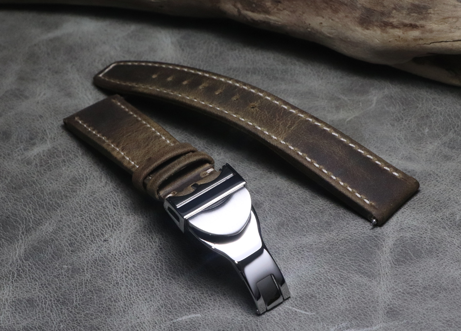 20 21 22mm Genuine Leather Hand Stitching Vintage Watch Straps Watchbands Universal Wristband High Grade Buckle For Tudor Series