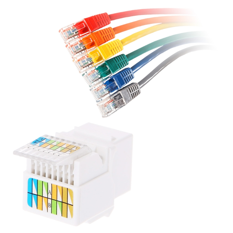 Jack-Socket Network Cat6 RJ45 Tool-Less-Module Ethernet-Connection-Adapter 5pcs 10166 title=