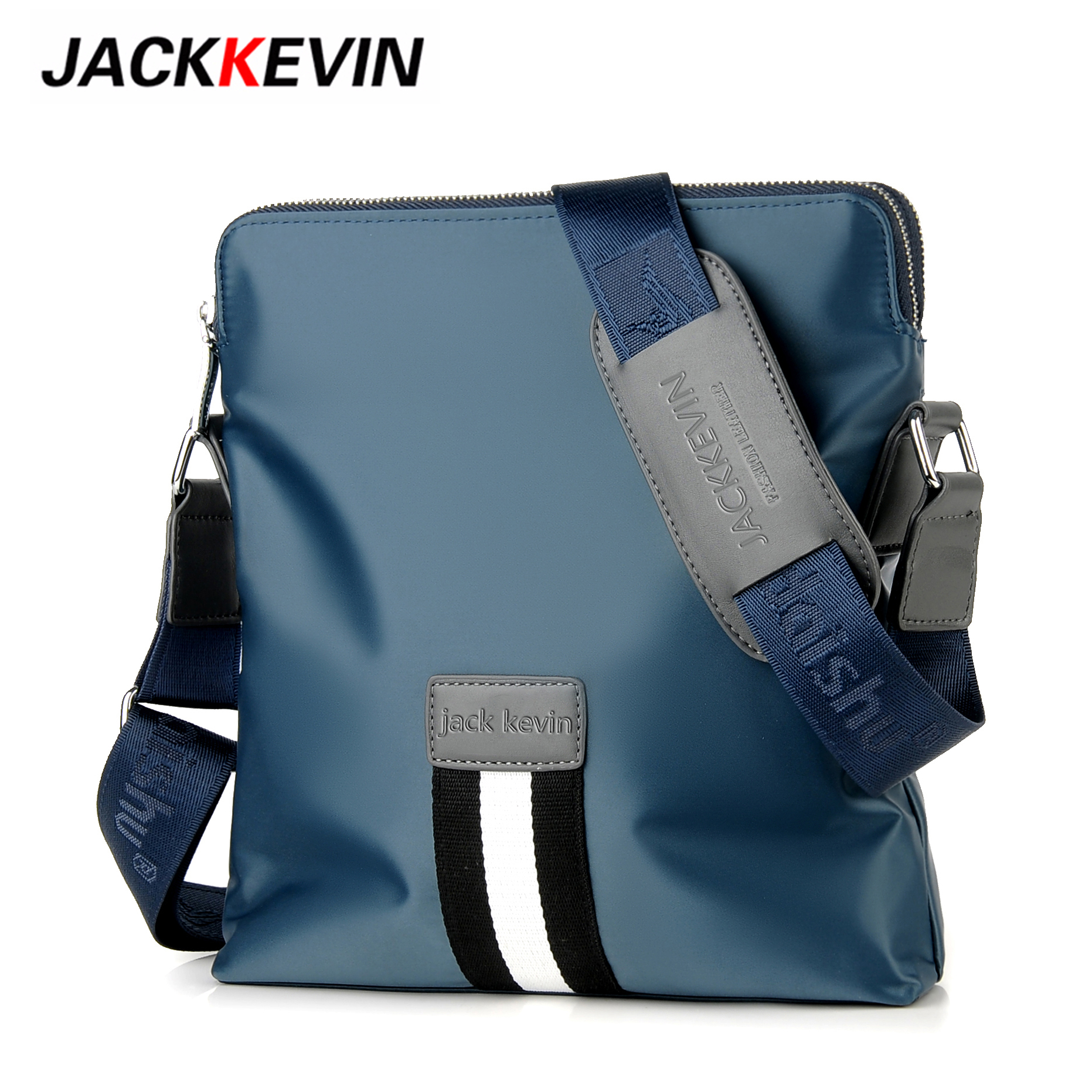 JackKevin Men Crossbody Bags Mens Messenger Bag Pack Casual Bag Waterproof Nylon Shoulder Bags Single Strap Pack