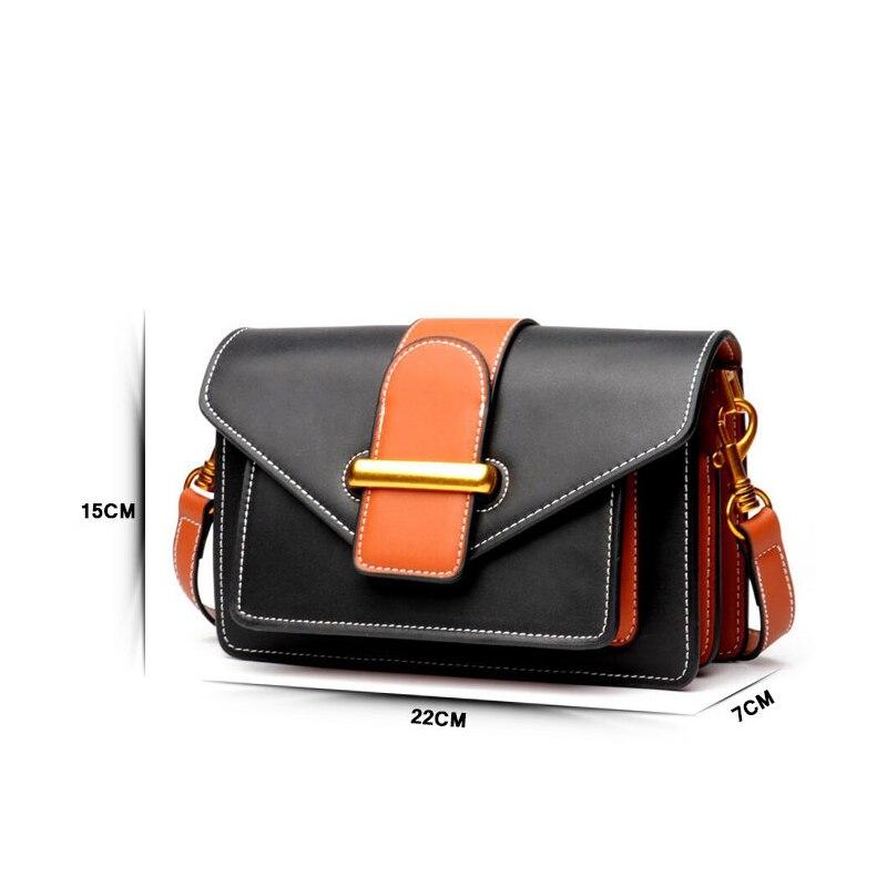 Bagaj ve Çantalar'ten Omuz Çantaları'de Sıcak Satış Ünlü Marka Kadın Hakiki deri çantalar Yüksek Kaliteli Inek Derisi Deri Avrupa ve Amerikan Tarzı Crossbody Çanta'da  Grup 2