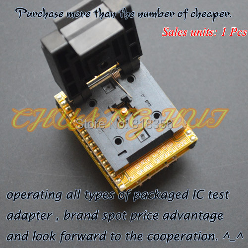 IC TEST SA686  Programmer adapter  WSON32 to DIP32 socket DFN32 QFN32 MLF32 Pitch=0.5mm Size=5mmX5mm ic xeltek programmers imported private cx3025 test writers convert adapter