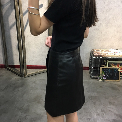 2019 New Fashion Genuine Sheep Leather Skirt Y12 in Skirts from Women 39 s Clothing