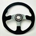 New Universal Sport 517/350mm Second Level Leather Deep Dish Steering Wheel Black