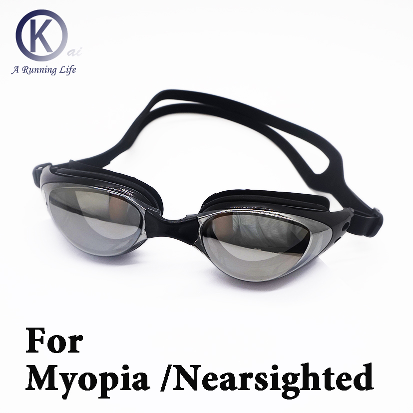 0e85e1a191a8b Top Qualidade Miopia óculos de Natação Óculos de Miopia míope Óculos de Natação  HD lente de dioptria Óculos chapeamento Personalizado em Óculos de natação  ...