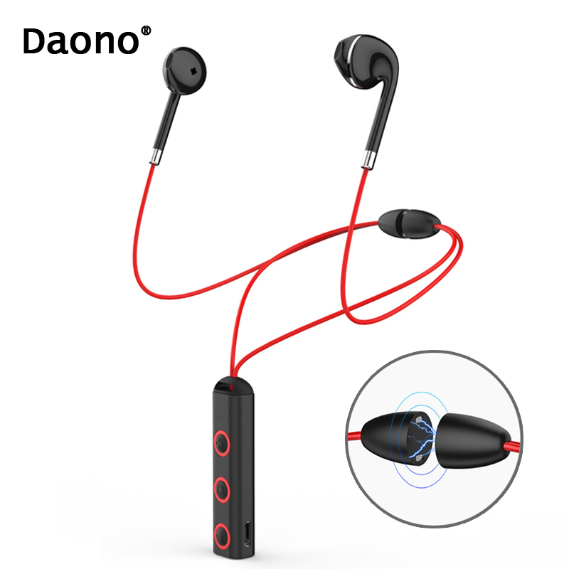 New BT313 Magnetic Bluetooth Headset Earphone Sport Running Headphone Bluetooth Earpiece With Mic Stereo Earbuds For