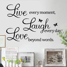 DIY LIVE LAUGH LOVE Every Day Quote Art Wall Stickers Decal Baby Kids Home  Decor