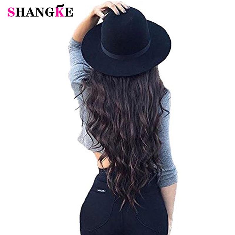 SHANGKE 24 '' Flip On Wire I Syntetisk Hårforlængelse Skjult - Syntetisk hår - Foto 2