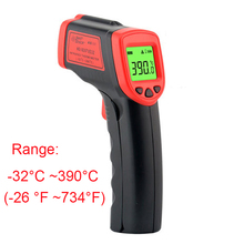 Laser LCD Digital IR Infrared Thermometer Handheld Temperature Meter gun Non-Contact Temperature measuring xintest handheld digital industrial infrared thermometer infrared ir thermometer laser temperature gun tester 50 650c ht 817