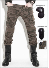 KOMINE Motorpool Camo UBS07 Jeans Camouflage Leisure Riding a Motorcycle Pants Jeans