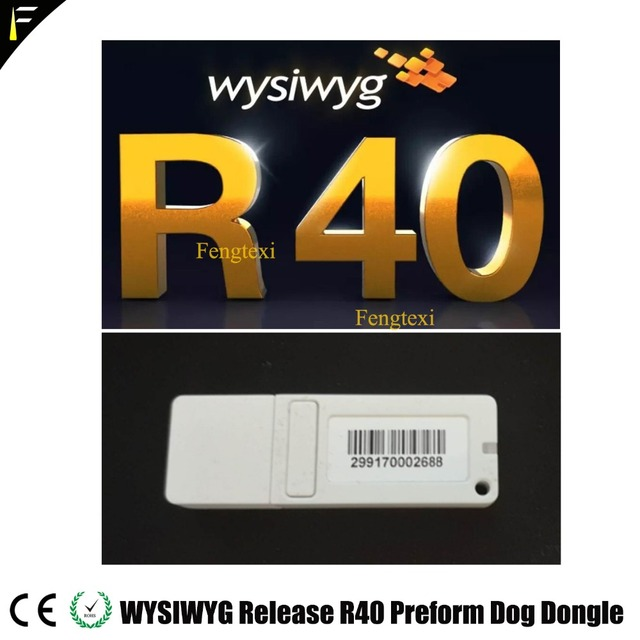 WYSIWYG R40 Dongle אנגלית שחרור 40 R40 כלב Preform מוצפן כלב תאורת תיאטרון מקום ביצועים עיצוב תוכנה