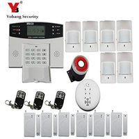 YobangSecurity Russian Spanish French Voice Prmpot LCD Keyboard Home Security Kit Alarm GSM Wireless Metal Remote Control