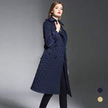BURDULLY 2018 Brand Winter trend Retro warmth thickening Loose large size XXL Over the knee long coat women femme Cotton parka
