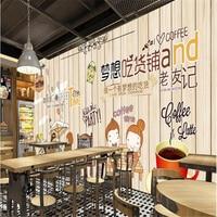 beibehang Classic personality simple 3d wallpaper dream food cake dessert shop background decoration papel de parede wallpaper
