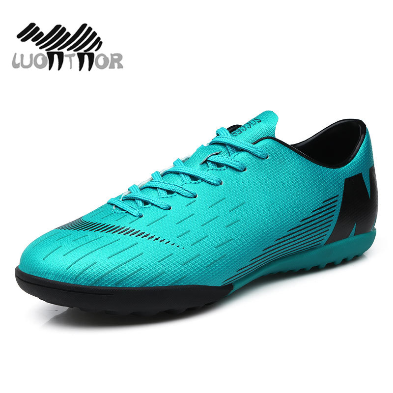 3e4ae5e7c03 Football Shoes Men Turf Spikes Football Boy Women Outdoor Athletic Trainers  Sneakers Adults Brand Professional Soccer