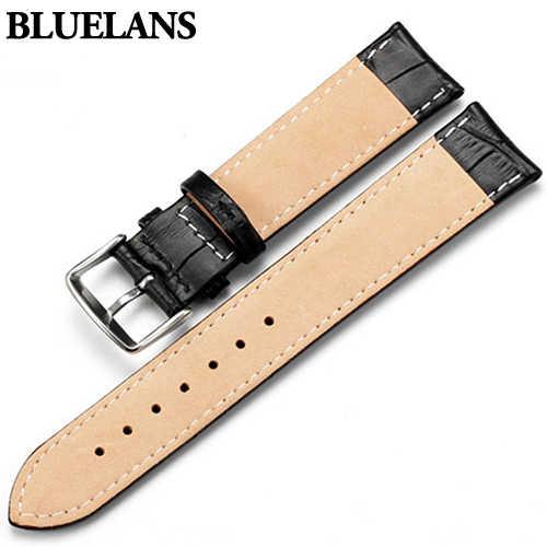 Tonton Band Wanita Pria Unisex Faux Kulit Gesper Tali Sabuk Hitam Putih Coklat 18 Mm 20 Mm 22 Mm Watchband