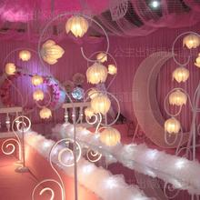 Wedding lead property bell orchid dragon lighting road led T stage decoration receiving line wedding backdrop