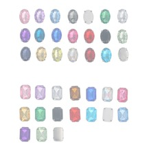 13x18mm Oval Shape Acryl Rhinestones With Claw Sew On Teardrop Crystal Stone Strass Diamond Metal Base Buckle Wedding Decoration