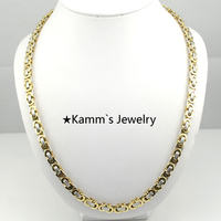55cm*6mm Quality Silver 316 Stainless Steel Necklace Gold chain For Men jewellery accessories Party Gifts Wholesale Brand KN191