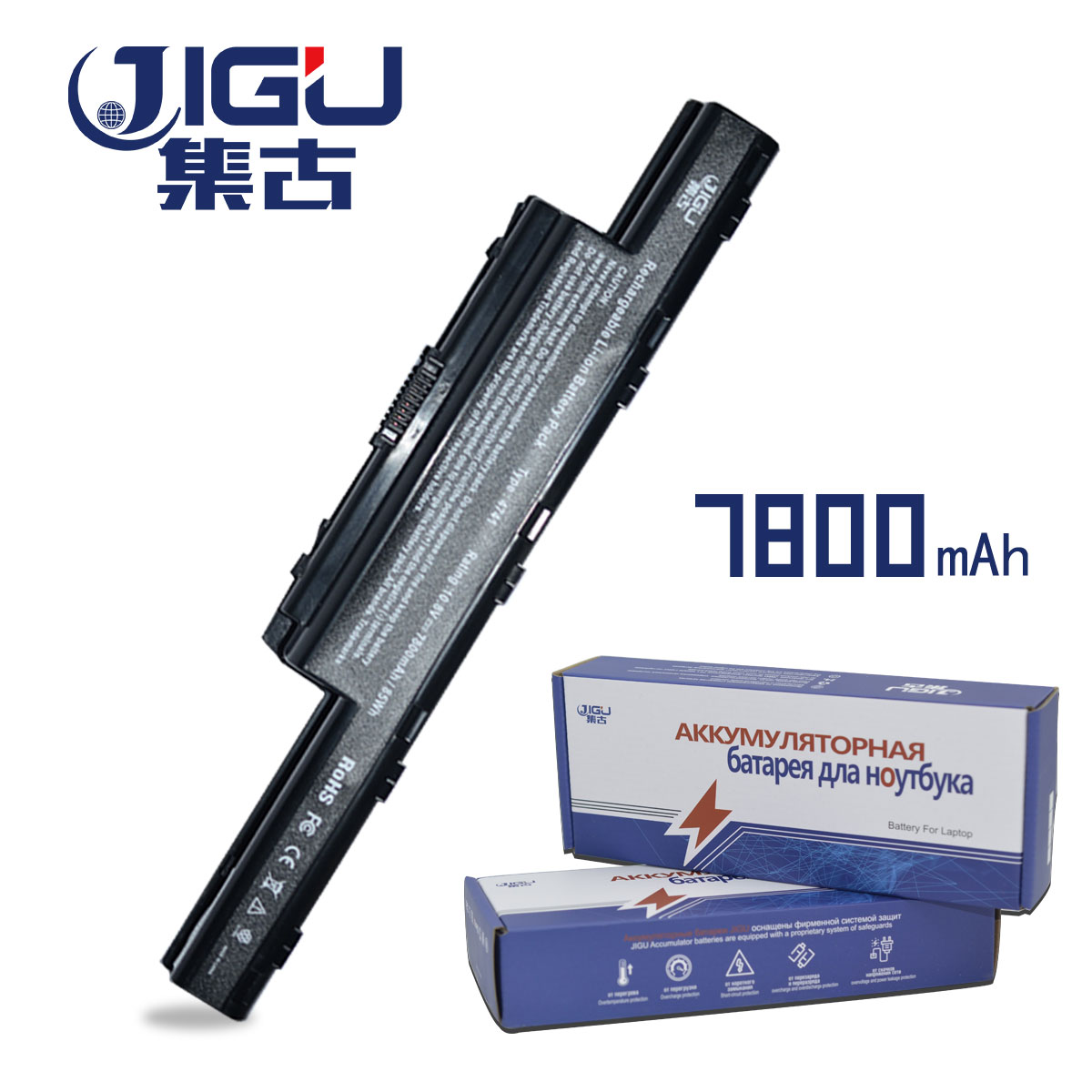JIGU 7750g NEW Laptop Battery For Acer Aspire V3 V3-471G V3-551G V3-571G V3-771G E1 E1-421 E1-431 E1-471 E1-531 E1-571 Series 20 sets mini micro jst 2 0 ph 7 pin connector plug with wires cables 100mm 10cm