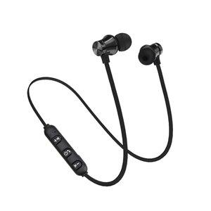 Image 3 - スポーツランニングbluetoothイヤホンワイヤレスヘッドセットヘッドフォンマイク低音ステレオ磁気blutoothのイヤホン携帯電話