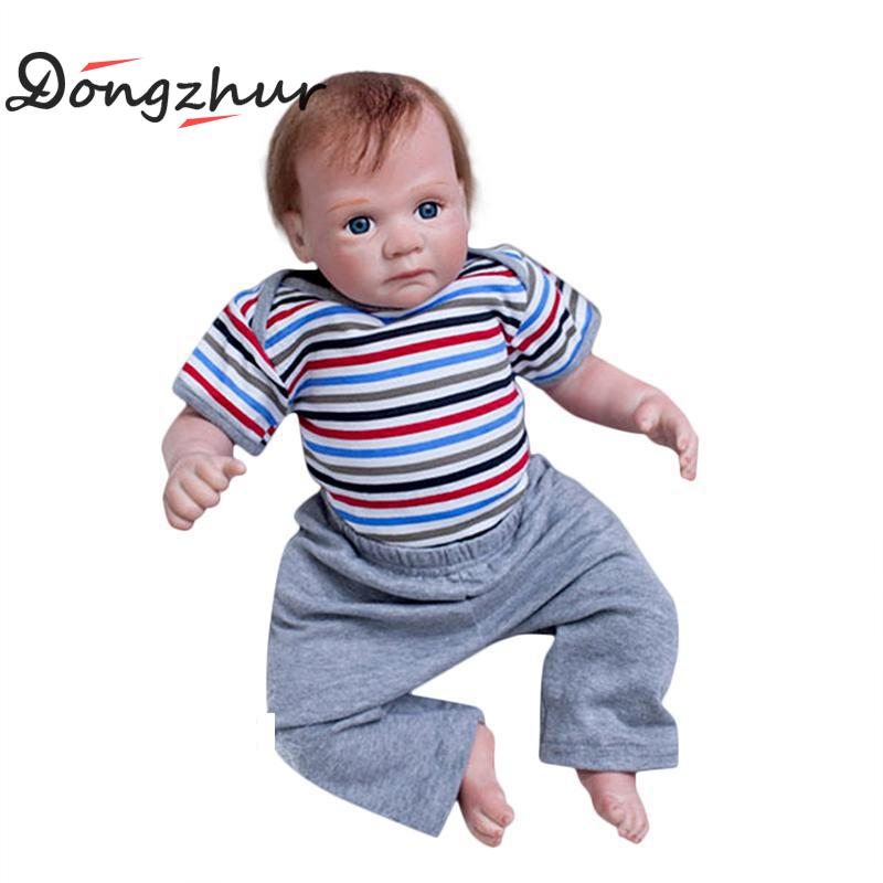 Dongzhur Silicone Reborn Baby Male Dolls 20 Inch Baby Dolls Boneca Reborn Silicone Completa Birthday Gift Doll Toys For Kids ivita 20 inch baby doll reborn dolls born babies silicone dolls reborn alive doll girl boneca reborn silicone completa toys