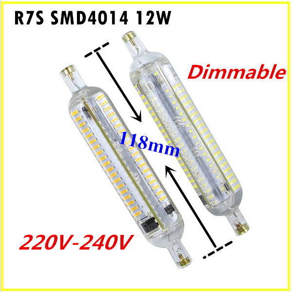 replacement Lamp in Bulb 13 Light Saving 10OFF Free Dimmable R7S US10 halogen LED Energy shipping LED 118mm R7S NEW Bulbs 12W SMD4014 220 240V LED dtrsxhQC