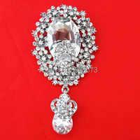 Hot sprzedaży detalicznej! duży 3.2 Cal w kształcie kropli wody kryształ wisiorek kobiety broszka
