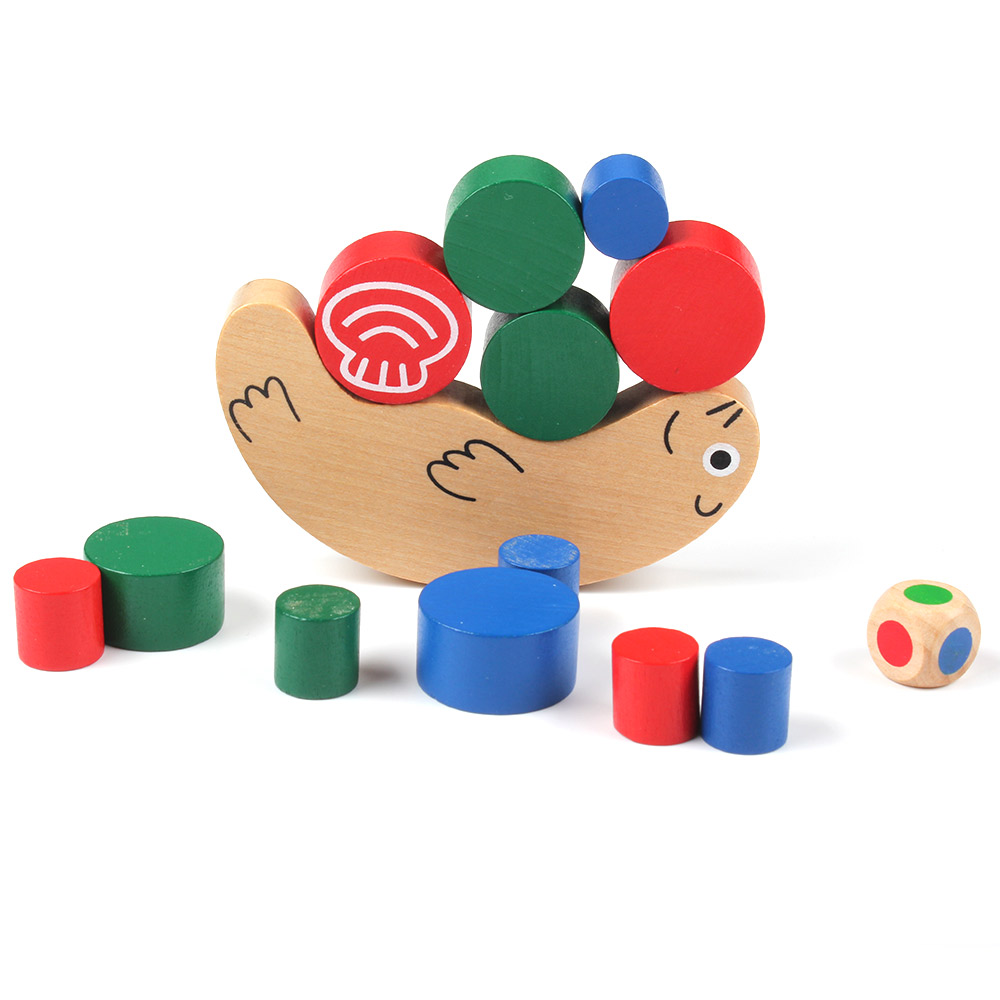 Wooden Snail Balance Toy Building Blocks Children Early Educational Toys Montessori Clown Training Balancing Toys Kids Game Gift baby toys montessori wooden geometric sorting board blocks kids educational toys building blocks child gift