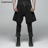 Панк рейв стимпанк пули Бриджи модные с поясом большой карман на молнии мужские брюки WK359