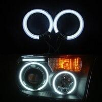 1ペア12ボルトdc ccfl led天使の目キット6000 kホワイトレッドブルーヘイローリングヘッドライト60 65 72 75 80 85 90 94 100 105ミリメートルのための車モータ