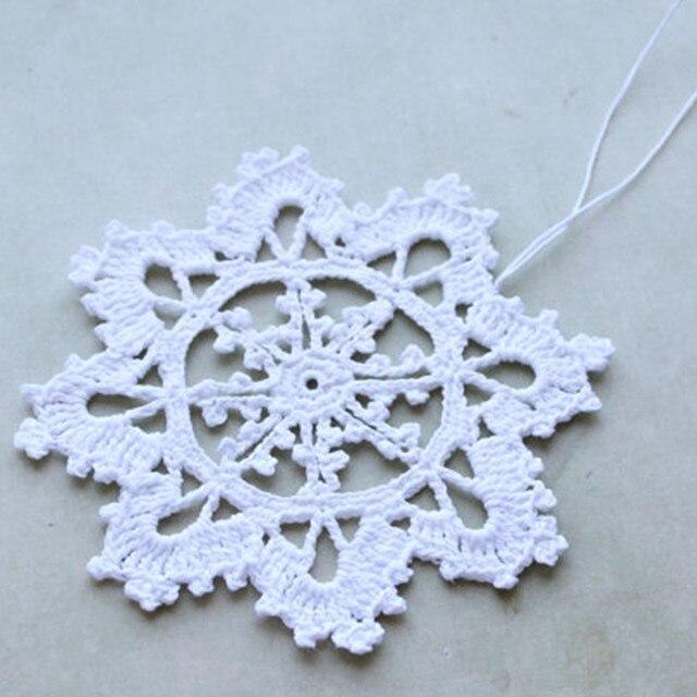 Weißen Schneeflocken Weihnachten Häkeln Schneeflocke Häkeln