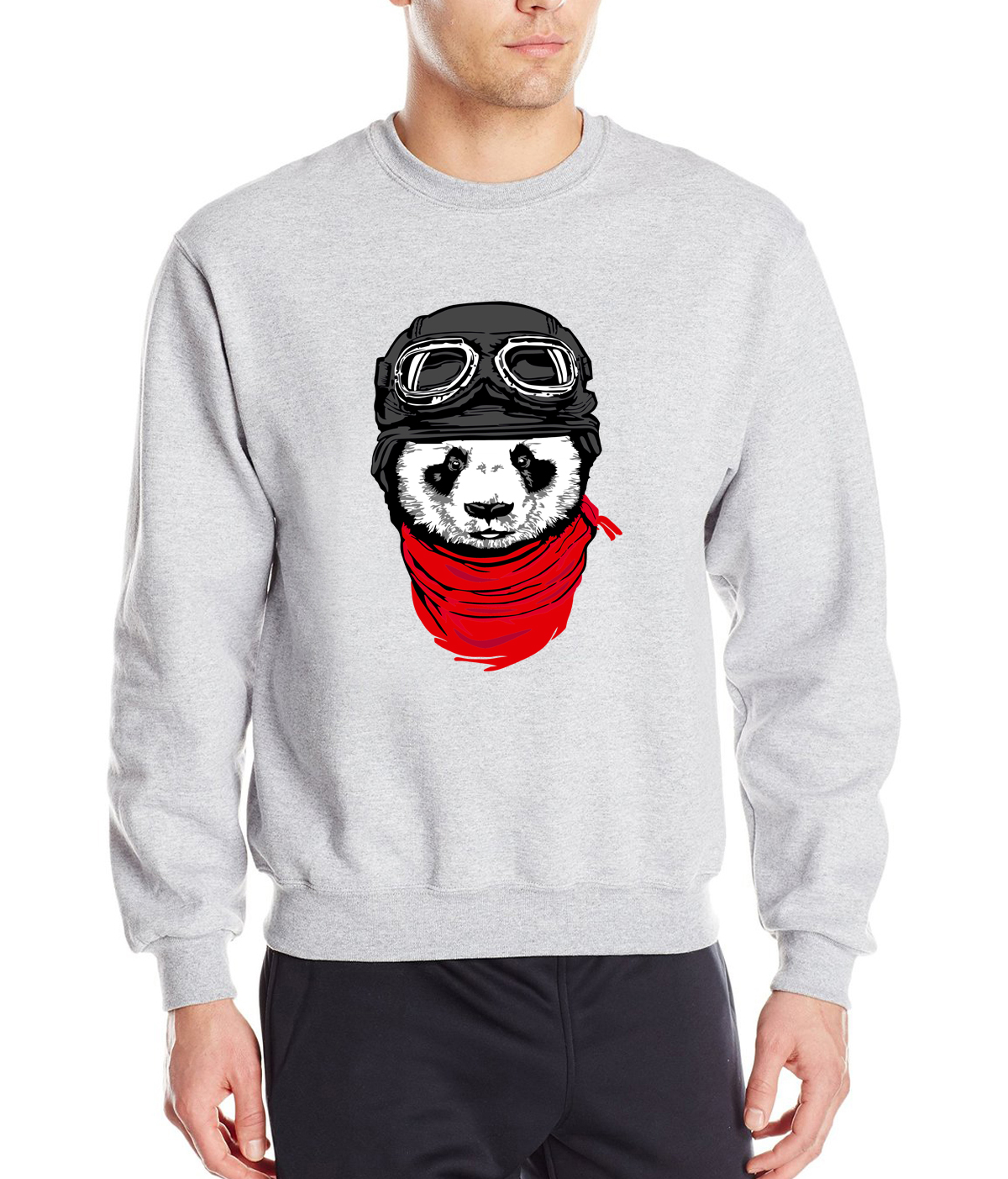 Men new  sweatshirt The Adventurer Cat Panda print kawaii hoodies 2019 autumn fashion brand tracksuits hip-hop tops mma