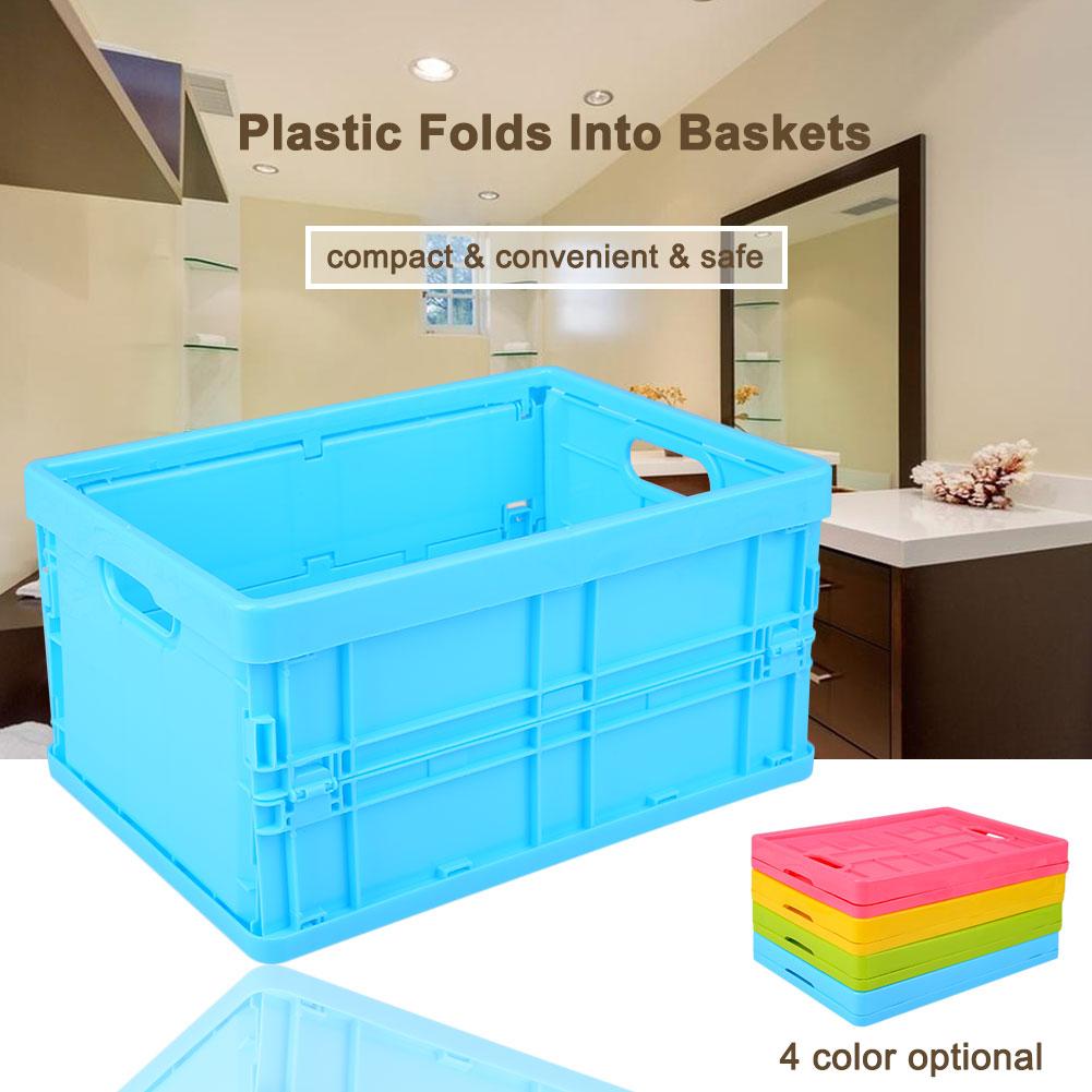 En plastique Pliable Accueil Panier De Rangement Container Economisez Rythme Accueil Organisateur