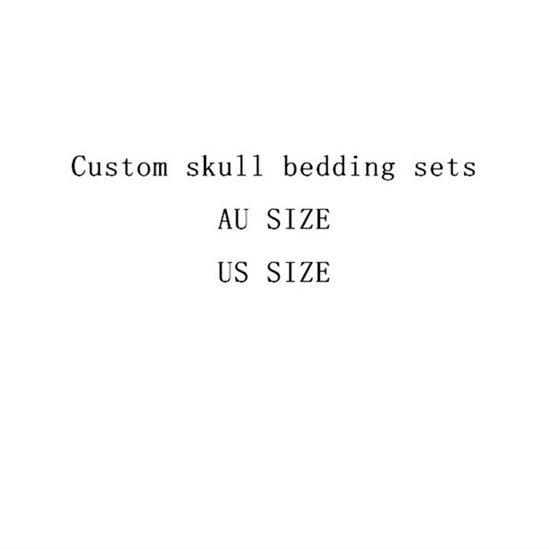 Fanaijia Rose flower skull Bedding Set for King Size Bed 3D sugar skull duvet cover with