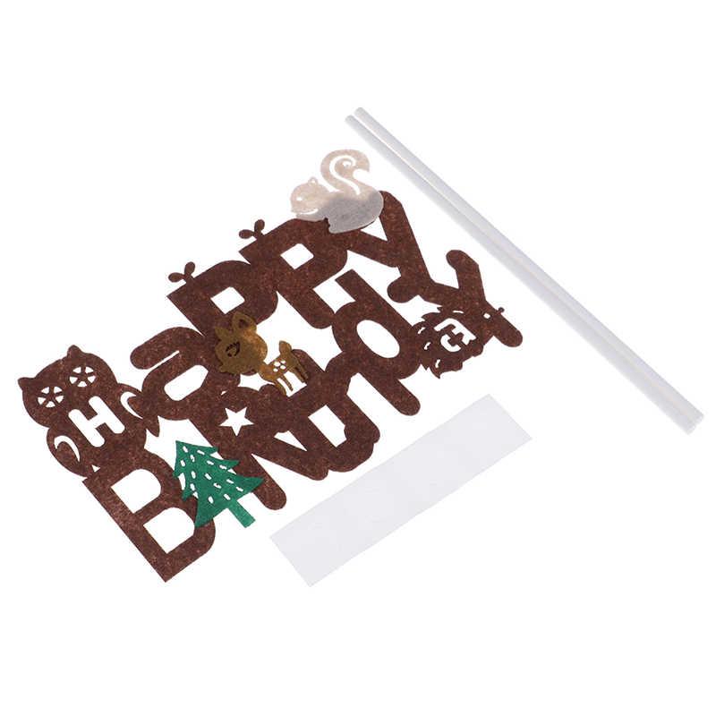 1 set Cartoon דינוזאור Cupcake Toppers יום הולדת שמח עוגת הכנס בד כרטיס מסיבת איסוף לילדים 3 סגנונות
