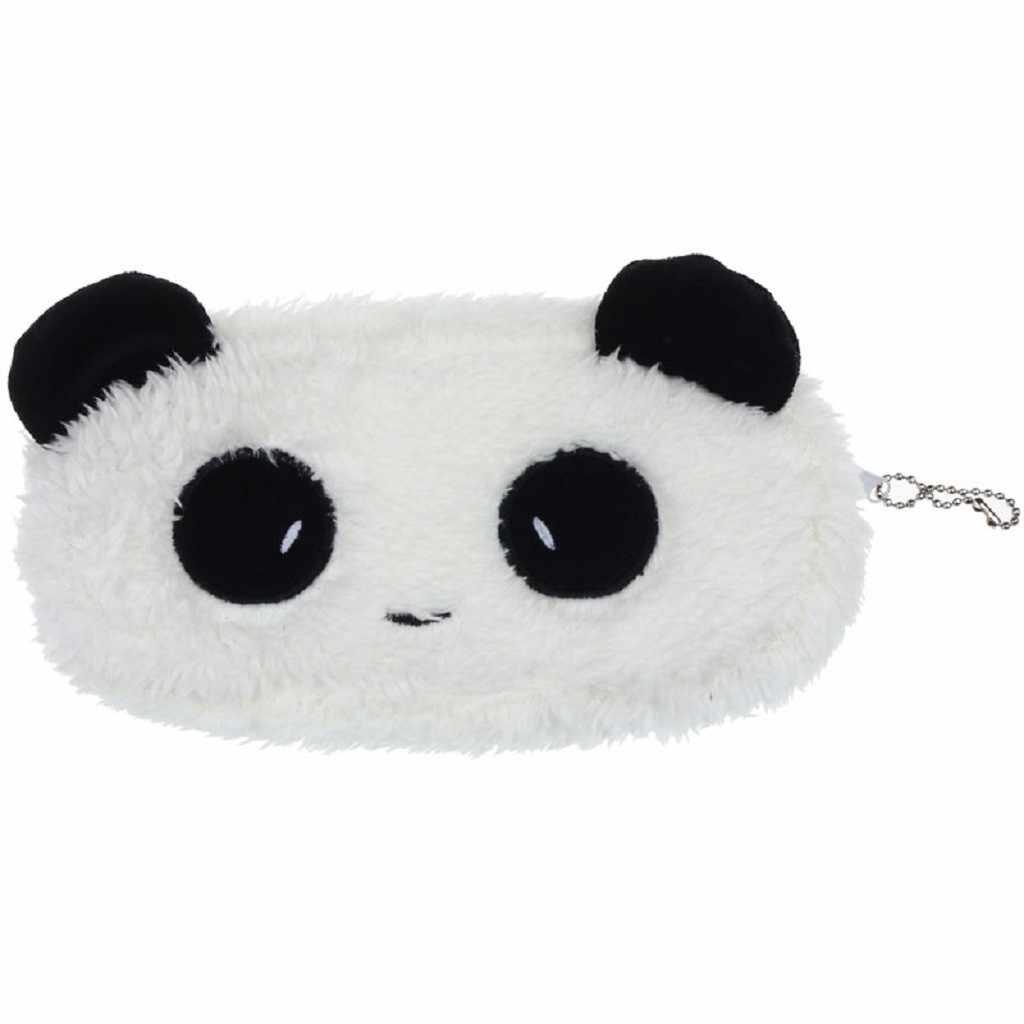 Sevimli Peluş Panda bozuk para cüzdanı Kadın Kız Çanta Cüzdan Kılıfı Çanta 2019 Moda Fermuar Mini Makyaj Çantası Rahat Debriyaj # H5