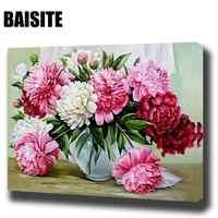 BAISITE DIY картина маслом в рамке по номерам цветы картины холст живопись для гостиной стены Искусство домашний декор E781