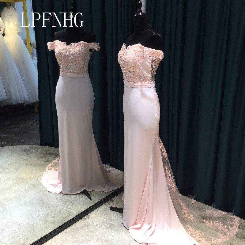 Pink Mermaid Prom Dresses 2018 Strapless manga corta con cremallera - Vestidos para ocasiones especiales