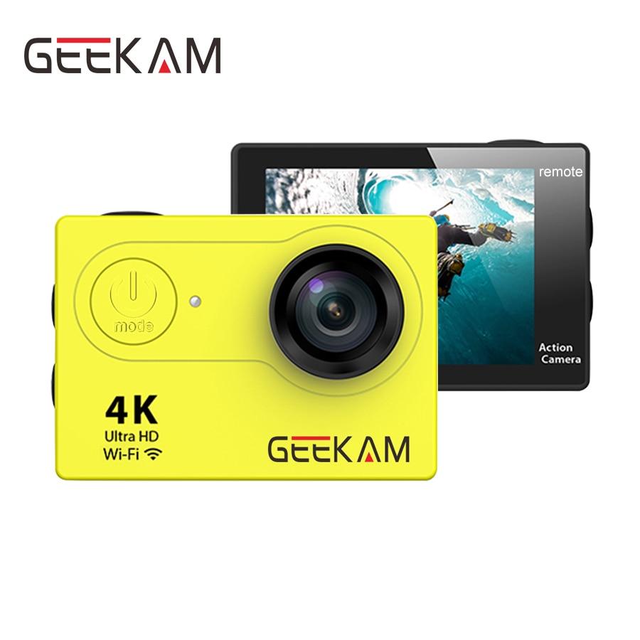 Caméra d'action GEEKAM S9 S9R Ultra HD 4K 1080P 720P WiFi aller étanche sous-marine pro casque Cam dvr Sport cam