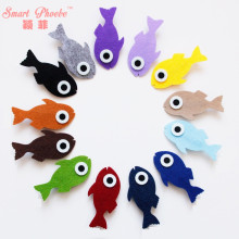 20pcs/13C Fashion Cute Felt Fish Girls Hairpins Solid Kawaii Candy Color Cartoon Girls Hair Clips Kids Hair Accessories Headware