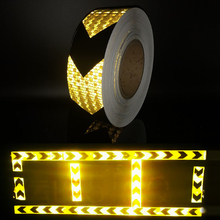 50mm width shining reflective warning self-adhesive stikcer with color arrow printing for car